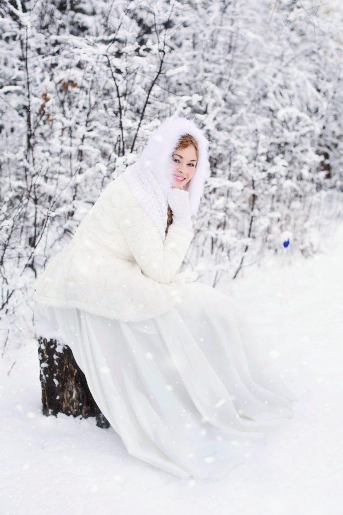 Ślub zimą - Panna młoda