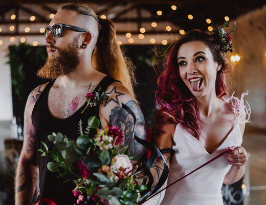 alternatywne targi ślubne - rockowa sesja ślubna