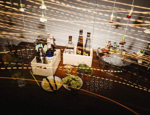 samoobsługowy drink bar na weselu
