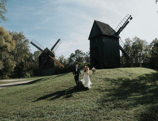 Sesja ślubna w skansenie